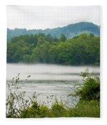 Blanket Of Fog On Clinch River  Fleece Blanket