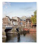 Blauwbrug In Amsterdam Fleece Blanket