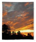 Blazing Christmas Sunset Fleece Blanket