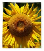 Blazing Yellow Sunflower Fleece Blanket