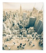 Bleached Manhattan Fleece Blanket