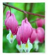 Bleeding Hearts Flowers Fleece Blanket