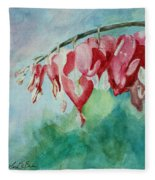 Bleeding Hearts Fleece Blanket