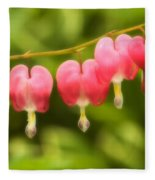 Bleeding Hearts Fleece Blanket
