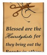 Blessed Are The Hairstylists  Fleece Blanket