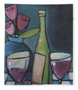 Blind Date With Wine Fleece Blanket