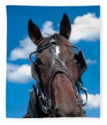 Blinders Because All Distractions Are Equal Fleece Blanket