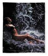 Bliss. Anna At Eureka Waterfalls. Mauritius Fleece Blanket