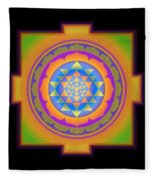 Bliss Yantra Fleece Blanket