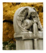 Blissful Angel In Autumn Fleece Blanket