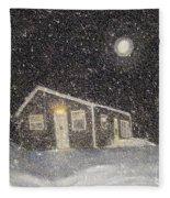 Blizzard At The Cabin Fleece Blanket