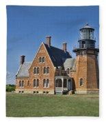 Block Island Southeast Lighthouse Fleece Blanket