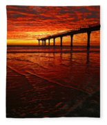 Blood Red Dawn Fleece Blanket
