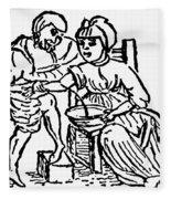 Bloodletting, 15th Century Fleece Blanket