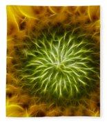 Bloom Of The Sunflower Fleece Blanket