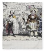 Bloomer Cartoon, C1851 Fleece Blanket