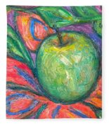 Blooming Apple Fleece Blanket