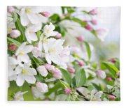 Blooming Apple Tree Fleece Blanket