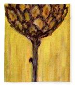 Blooming Artichoke - Cynara Cardunculus Fleece Blanket