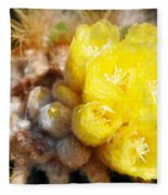Blooming Barrel Cactus Fleece Blanket