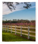 Blooming Peach Tree's At Boone Hall Fleece Blanket