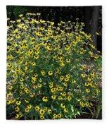 Blooming Rudbeckia Bush Fleece Blanket
