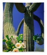Blooming Saguaro Fleece Blanket