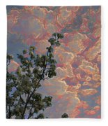 Blooming Tree And Sky Fleece Blanket