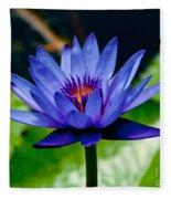 Blooming Water Lily Fleece Blanket