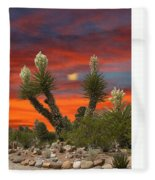 Full Blooming Yucca Fleece Blanket