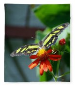 Blooms And Butterfly2 Fleece Blanket