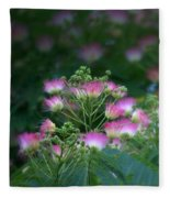 Blooms Of The Mimosa Tree Fleece Blanket