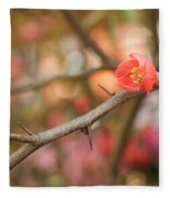 Blossom Amidst The Thorns Fleece Blanket