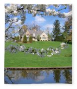 Blossom-framed House Fleece Blanket