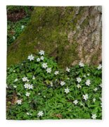 Blossom Windflowers Fleece Blanket
