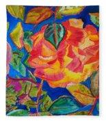 Blossoms Aglow Fleece Blanket