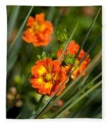 Blossoms In The Reeds Fleece Blanket