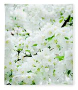 Blossoms Squared Fleece Blanket
