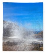 Blow Hole Blow Out Fleece Blanket