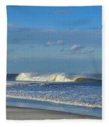 Blowin' In The Wind Seaside Heights New Jersey Fleece Blanket