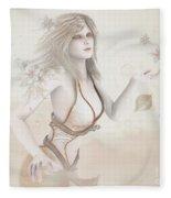Blowing In The Wind Fleece Blanket