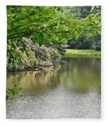 Blowing Rock Lake Fleece Blanket