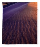 Blowing Sand At Death Valley Fleece Blanket