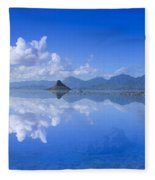 Blue Mokolii Fleece Blanket