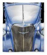 Blue 1937 Chevy Too Fleece Blanket