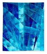 Blue Abstract Art - Paths - By Sharon Cummings Fleece Blanket
