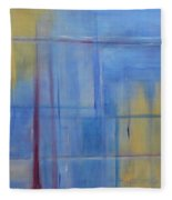 Blue Abstract Fleece Blanket