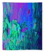 Blue Abstract Trunk Fleece Blanket