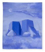 Blue Adobe Fleece Blanket