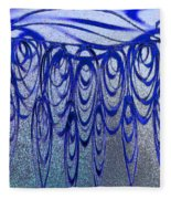 Blue And Black Swirl Abstract Fleece Blanket